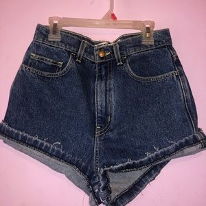 Dark Denim High Rise American Apparel shorts